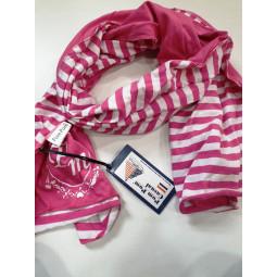 Pom Pom Schal-Tuch pink,...