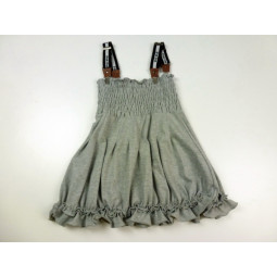 Pom Pom Kleid grau, Mädchen