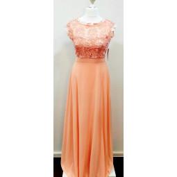 Abendkleid apricot, Damen