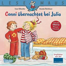 Lesemaus- Conni übernachtet...
