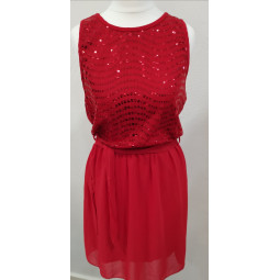 Kleid rot, Damen