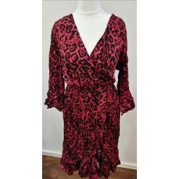 Kleid Tiger-Look bordeaux,...