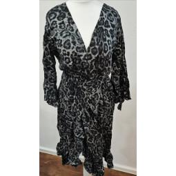 Kleid Tigerlook grau, Damen