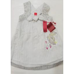 Primo Passo Kleid weiß-grau...
